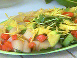 Watercress, Chayote, Papaya, and Avocado Salad