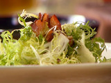 Frisee Salad with Blue Cheese, Bacon and Hazelnuts