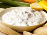 Crudite with Olive-Creme Fraiche Dip