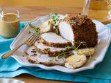 Herb and Garlic Roast Pork Loin with Honey Mustard Sauce