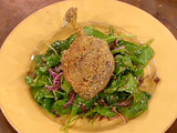 Pecan Crusted Duck Confit and Wilted Spinach Salad
