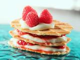 Vanilla Pudding Raspberry Napoleon