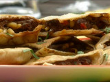 Lebanese Meat-Stuffed Pitas (Arayes)