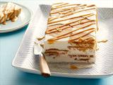 Icebox Cake with Slice and Bake Peanut Butter Sandies