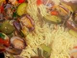 Tagliolini con Vongole e Zucchini (Thin Noodles with Clams and Zucchini)