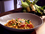 Tagliatelle with Corn and Cherry Tomatoes