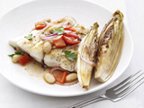 Halibut with Tuscan Beans and Endive