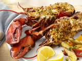 Deviled Portuguese Grilled Lobsters