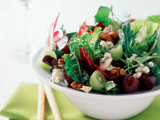Baby Greens with Grapes, Pecans and Gorgonzola