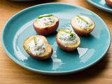 Baby Potatoes with Creamy Goat Cheese and Fine Herbs