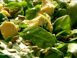Baby Spinach, Avocado, and Pumpkin Seed Salad