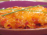 Macaroni Lasagna with Veggies and Dip
