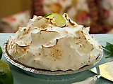 Key Lime Pie with Meringue Topping