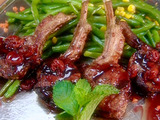 Lamb Chops with Cherry Mint Sauce