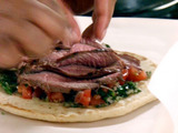 Lamb Gyro with Tomato Relish and Chimichurri Sauce