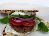 Lamb Burgers with Feta Tzatziki Spread