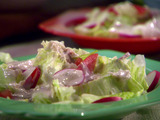 Easy Salad with Creamy Roasted Tomatillo Dressing