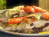 Easy Baked Striped Bass with Tomatoes, Rosemary and Olives