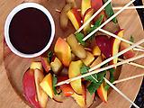 Rainbow Fruit Skewers with Chocolate-Dipped Strawberries