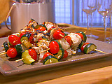 Halibut Kabobs with Zucchini and Grape Tomatoes