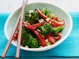 Pepper and Peanut Broccoli Stir-Fry