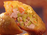 Pork Egg Roll with Broccoli Slaw