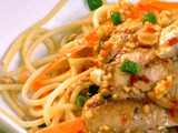 Cilantro Chicken and Spicy Thai Noodles