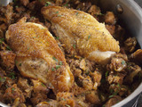 Baked Chicken with Ciabatta Dressing