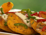 Spicy Grilled Mango with Crema