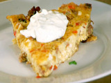 Sausage, Red Pepper and Feta Frittata