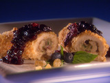 Chicken Cordon Bleu Roll-Ups with Ginger 'n' Spice Blueberry Chutney