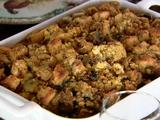 Cornbread Dressing with Sausages, Apples and Mushrooms