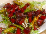 Bietole al Forno: Roasted Beets with Asparagus