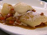 Roasted Butternut Squash, Sauteed Apples and Toasted Walnut Crepes with Cinnamon Gelato
