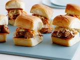 Sweet and Sour BBQ Chicken Sliders with Pickled Chinese Cabbage and Carrots