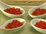 Caramels with Salmon Roe