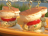 Rock Shrimp Burgers with Wasabi Mayo