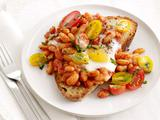 Baked Eggs and Beans on Toast