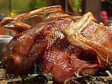 Roast Goose with Armagnac Blueberry Reduction