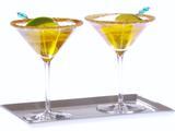 Spiced Virgin Apple Martinis