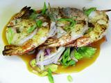 Sauteed Shrimp, Spicy BBQ, Apple Slaw