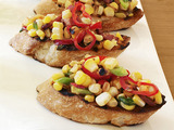 Grilled Corn, Bacon and Chile Crostini