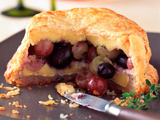 Baked Brie with Herbed Grapes