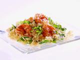 Lemony Shrimp Scampi with Orzo and Arugula