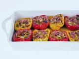 Crab and Prosciutto-Stuffed Peppers