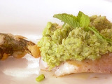 Red Snapper with Fava Bean Puree