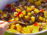 Corn and Black Bean Salad with Basil-Lime Vinaigrette
