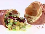 Popovers Stuffed with Crab, Avocado and Mango Chopped Salad