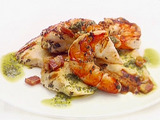 Chicken and Shrimp with Pancetta Chimichurri