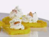 Polenta Half-Moons with Whipped Goat Cheese